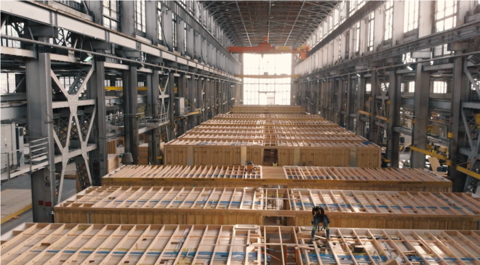 inside of building factory