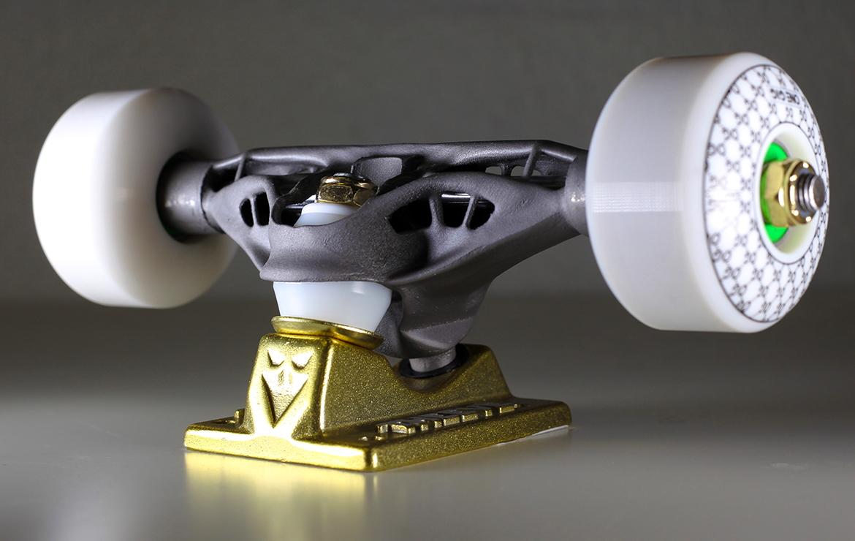 skateboard truck made from DMLS titatnium