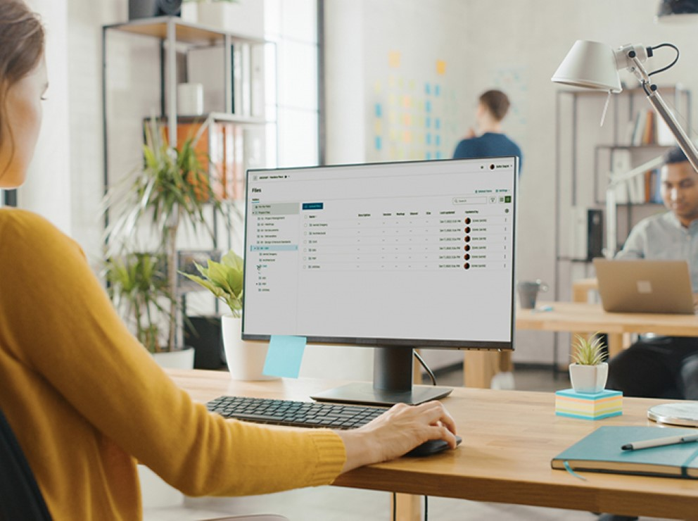 cloud collaboration tool shown on computer screen