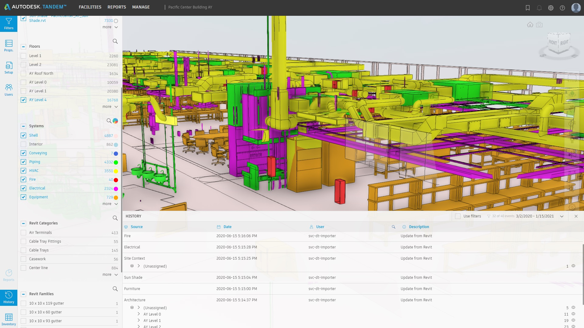 Autodesk Tandem screenshot using BIM data