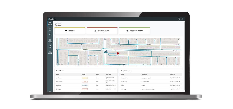 screenshot of smart water infrastructure technology by Innovyze