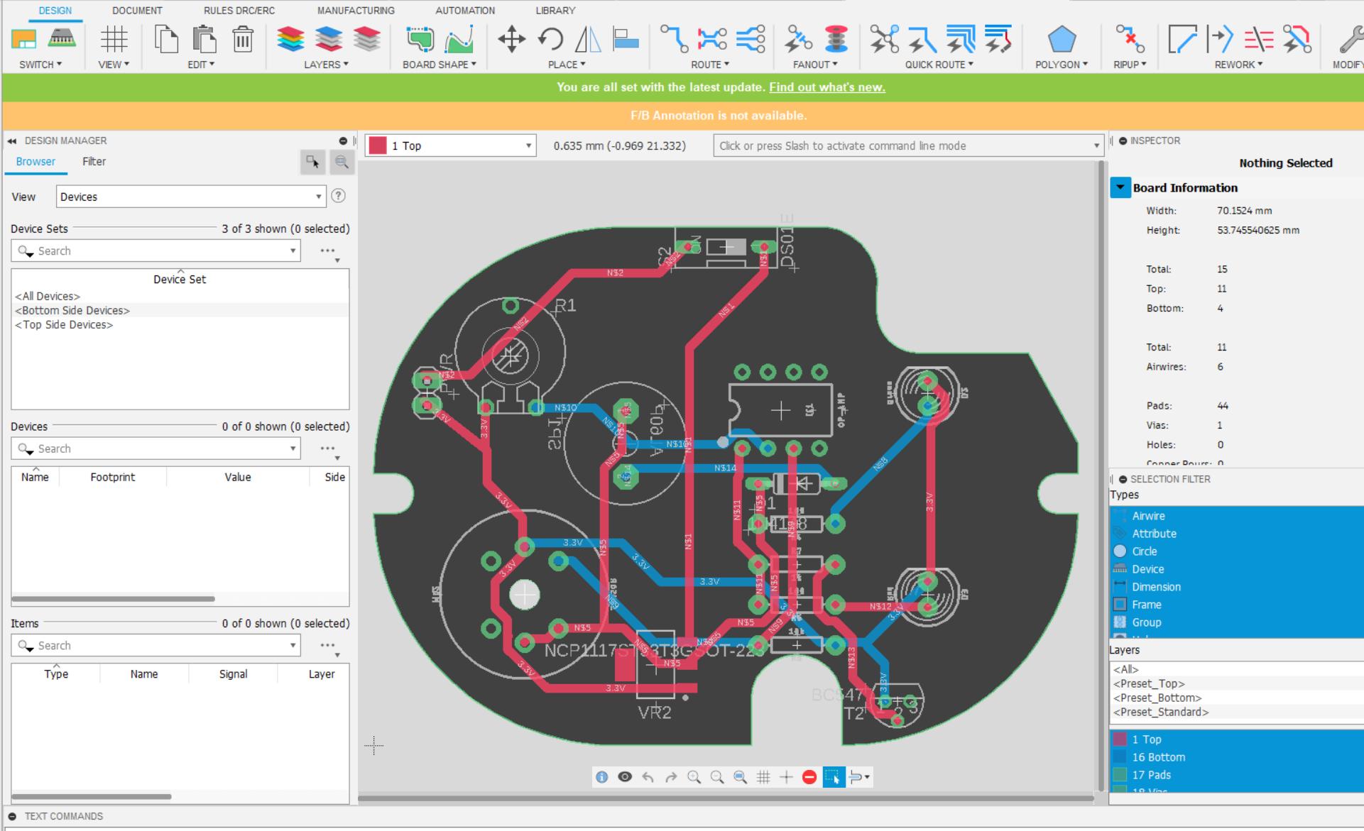 Circuit Board design in Fusion