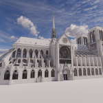 3d model for the restoration of Notre-Dame Cathedral