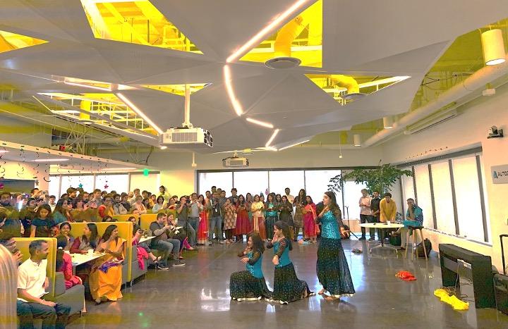Diwali celebrate in an Autodesk office