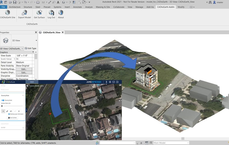 screenshot of AEC app CADtoEarth