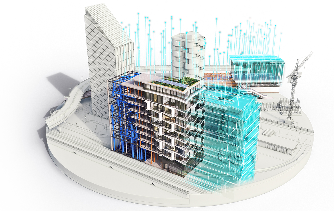 A metro center model benefitting from digital twin technology