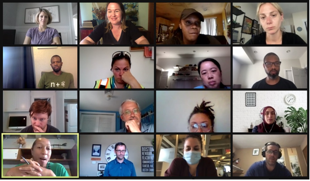 A group of educators on Zoom