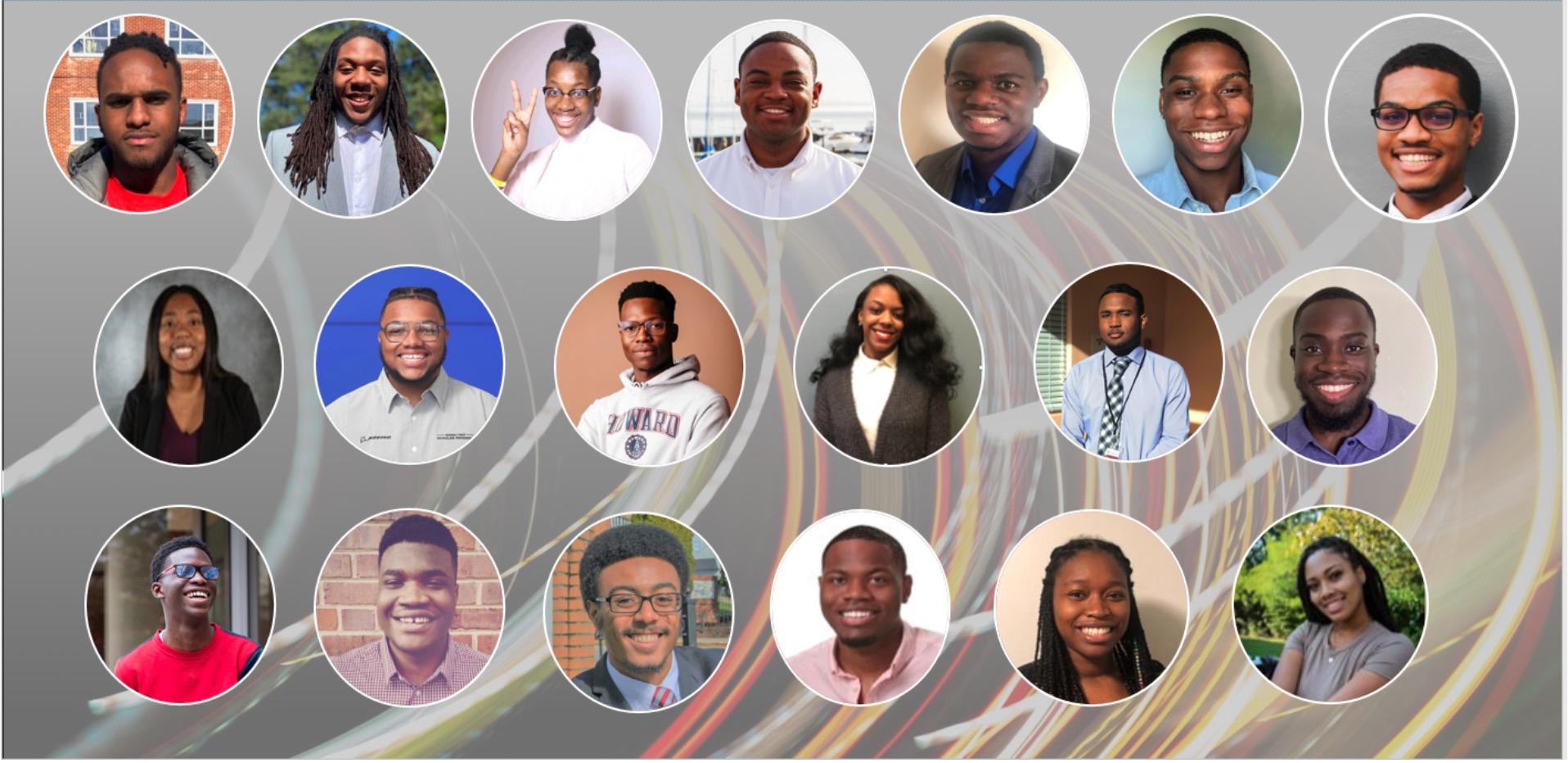headshots of the first cohort of Autodesk HBCU Tech Program students.