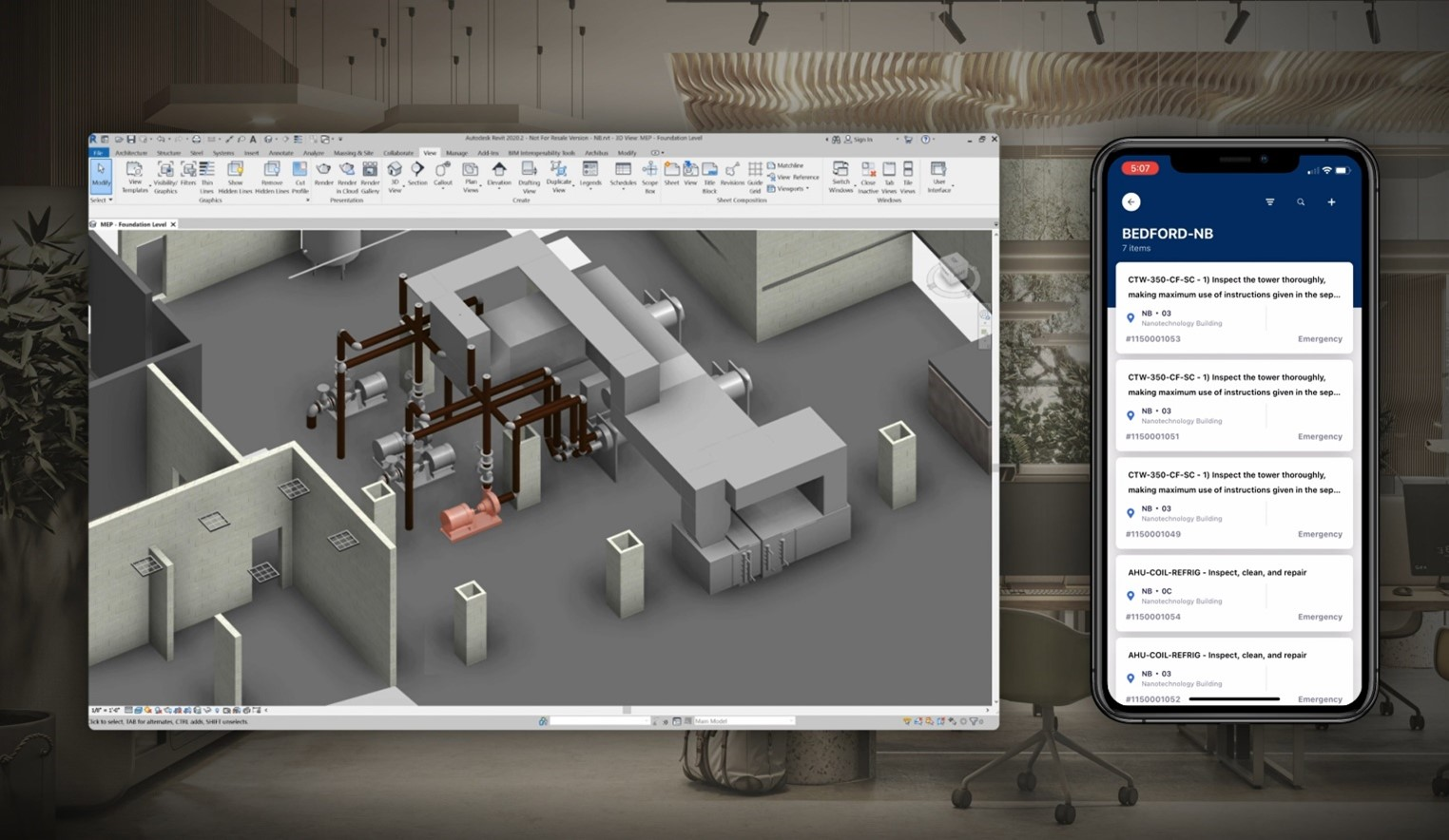Software used to manage facility operations